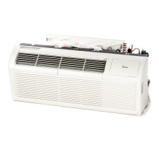 "PTAC Unit - 15k Midea EMB82 Series 42"" 208v Air Conditioner With 3.5 kW Resistive Electric Heat"