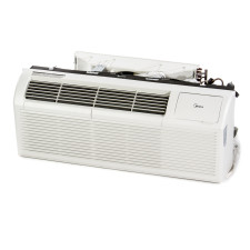 "PTAC Unit - 15k Midea HMB42 Series 42"" 208v Air Conditioner With Integral Heat Pump and 3.5 kW Resistive Heat"