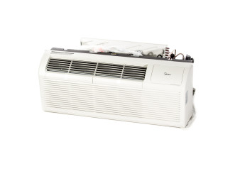 """PTAC Unit - 15k Midea MP15EMB82 Series 42"""" 208v Air Conditioner With 3.5 kW Resistive Electric Heat"""