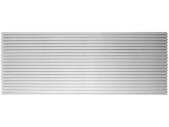 Amana PGK01WB Exterior Louvered Polymer Grille-White-42""