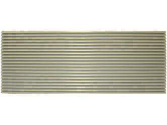 Amana PGK01TB Exterior Louvered Polymer Grille-Stonewood-42""